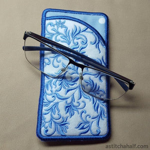 Blue Song Eyeglass Case - astitchahalf