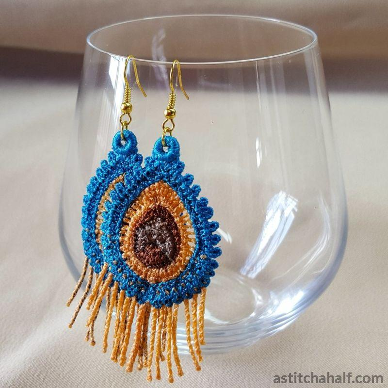 Boho Chic Feathery Freestanding Lace Earrings - astitchahalf