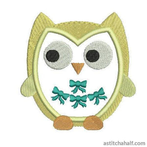 Bow Owl - astitchahalf