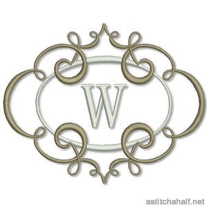 Breath of Spring Monogram Combo for 5*7 hoop - a-stitch-a-half