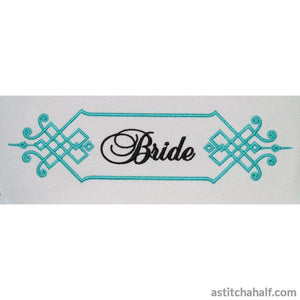 Bride Monogram - a-stitch-a-half