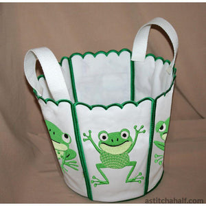 Bucket Toad - a-stitch-a-half