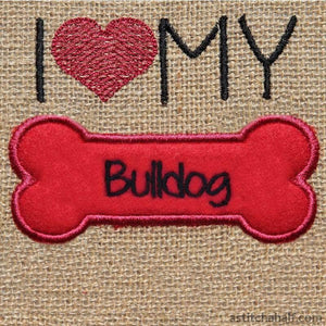 Bulldog Dog Silhouette - a-stitch-a-half