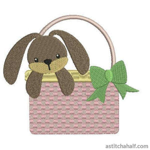 Bunny in Basket - astitchahalf