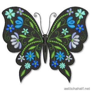 Butterfly Black and Blue Combo - astitchahalf