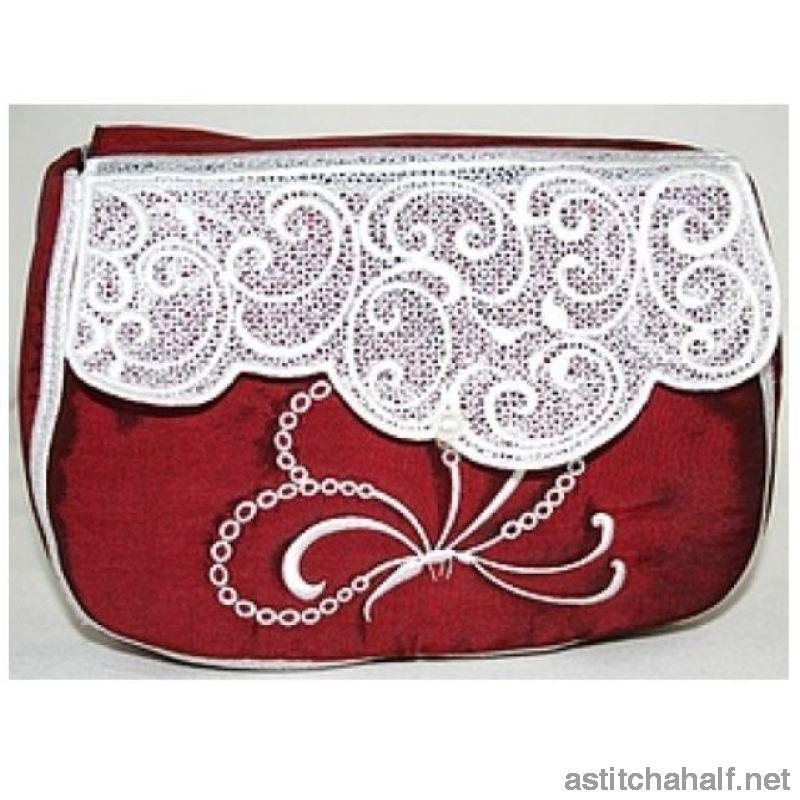 Butterfly Brocade Clutch Purses Applique