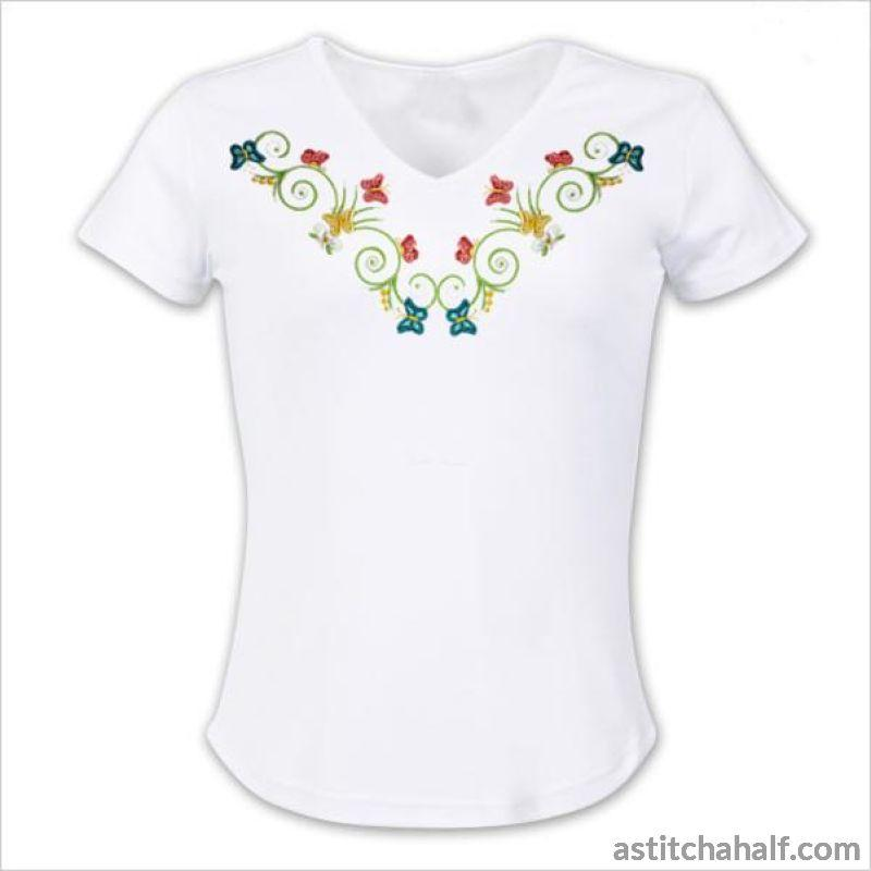 Butterfly Kisses Neckline Variety - astitchahalf