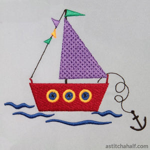 Button boat - a-stitch-a-half