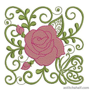 Carolina Rose - a-stitch-a-half