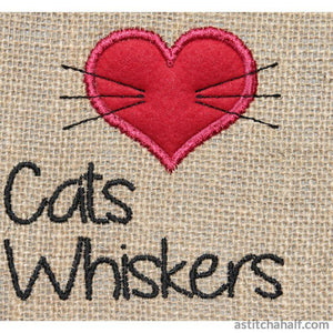 Cats Whiskers Silhouette - astitchahalf