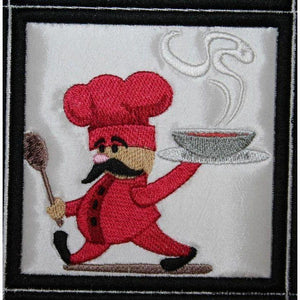 Chef Placemat - a-stitch-a-half