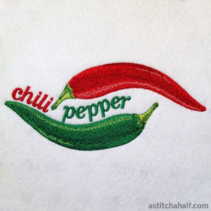 Chili Border - a-stitch-a-half
