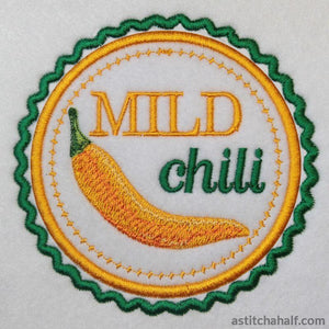 Chili Label Mild - astitchahalf