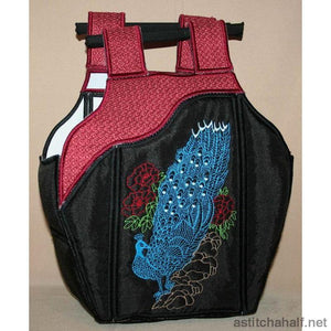 Chinese Peacock Tote Bag 02 - astitchahalf
