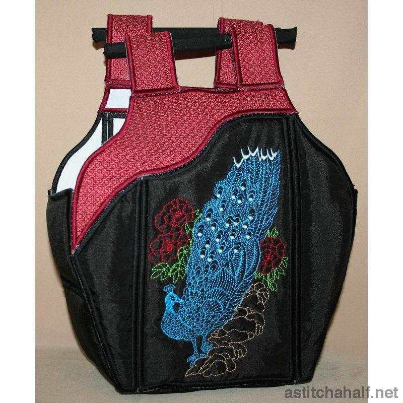 Chinese Peacock Tote Bag 02 - a-stitch-a-half