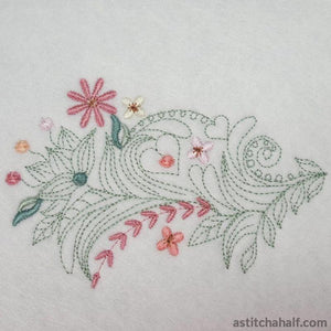 Classic Neckline Embroidery Collection - astitchahalf