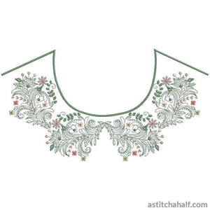 Classic Neckline Embroidery Collection - a-stitch-a-half