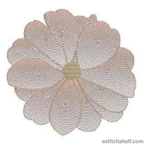 Cosmos Flower Transparency - a-stitch-a-half