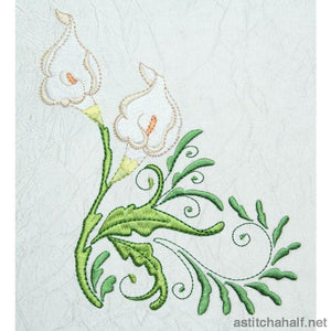 Curly Calla Lily Combo Embroidery Fill