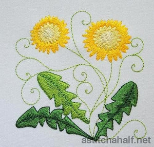 Dandelion in Bloom - a-stitch-a-half