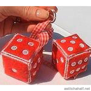 Dice and Domino Set - a-stitch-a-half