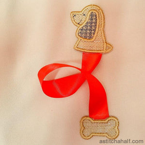 Doggie Bookmark - a-stitch-a-half