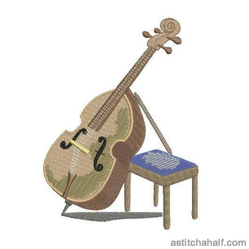 Double Bass Music Instrument - astitchahalf