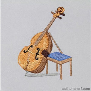 Double Bass Music Instrument - a-stitch-a-half