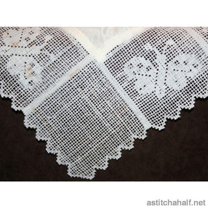 Dutch Lace with Butterflies - astitchahalf