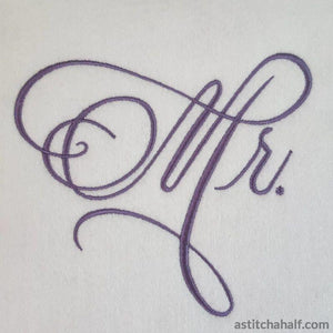 Elaborate Monogram for Mr - astitchahalf