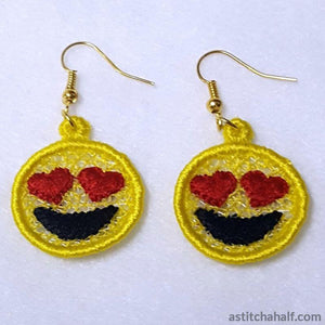Emoji in Love Earrings Pendant Bookmark - a-stitch-a-half