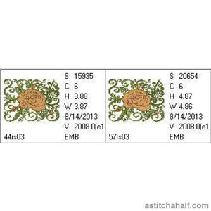 English Rose - a-stitch-a-half