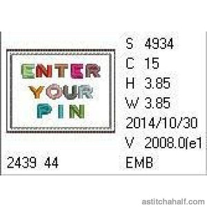 Enter Your Pin Pincushion - a-stitch-a-half