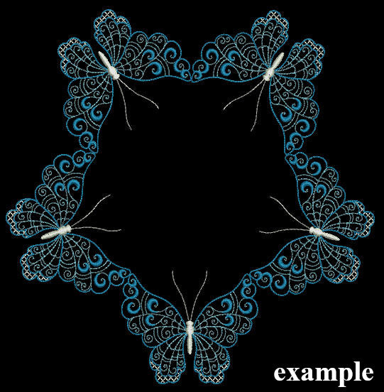Winter Butterflies - a-stitch-a-half