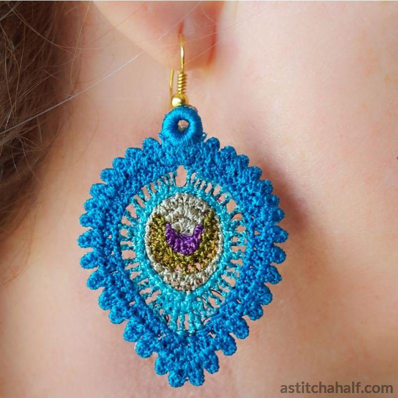 Fabulous Freestanding Lace Feathery Jewels - astitchahalf