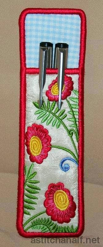 Fantasy Floral Pen and Pencil Holder - a-stitch-a-half