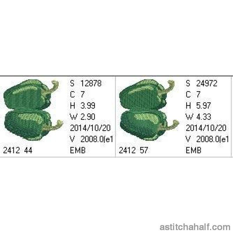 Farmers Green Bell Peppers - a-stitch-a-half