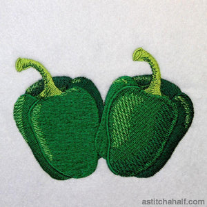 Farmers Green Bell Peppers - astitchahalf