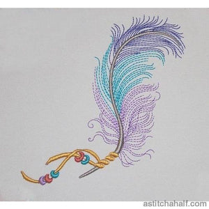 Feather and Beads - a-stitch-a-half