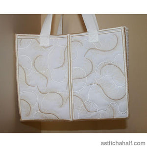 Feathers on Pearls Tote Bag - astitchahalf