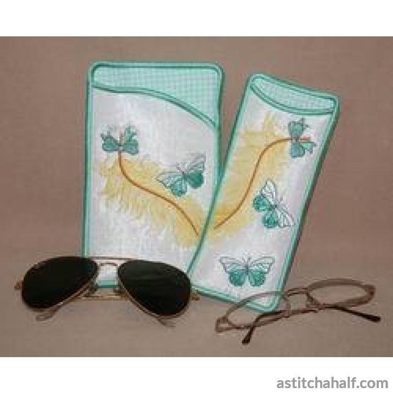Feathery Eyeglass Cases 01 - a-stitch-a-half