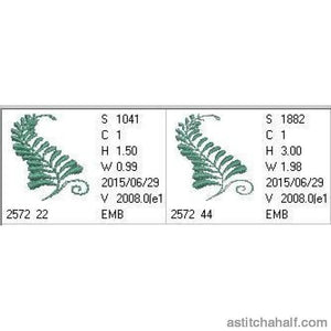 Fernery Design - a-stitch-a-half
