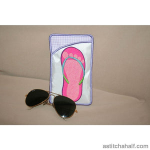 Flip Flop Eyeglass Cases - a-stitch-a-half