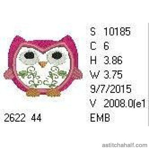 Floral Owl - astitchahalf