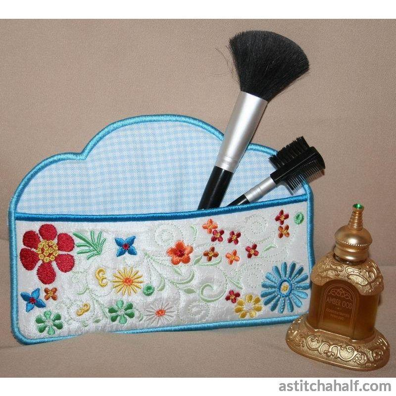 Flower Fun Cosmetic Case - a-stitch-a-half