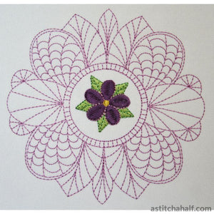 Flower Lace 01 - a-stitch-a-half