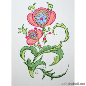 Flower Nouveau Combo Embroidery Fill