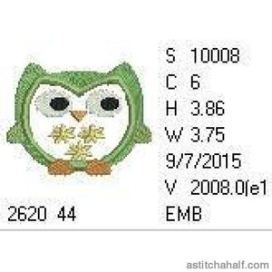 Flower Owl - astitchahalf