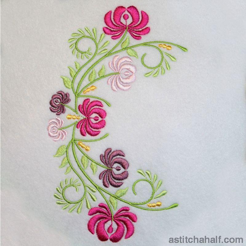 Flowering Ornate Opulence - a-stitch-a-half