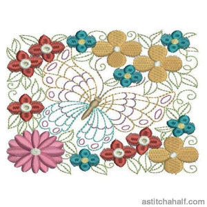 Flowery Wings - a-stitch-a-half